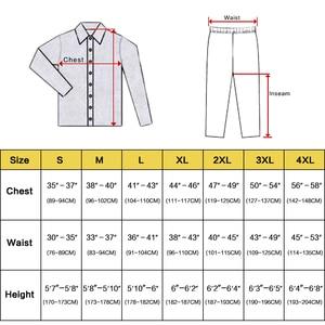 Image 2 - メンズシルクサテンパジャマセットパジャマセット PJS パジャマ部屋着 S 〜 4XL ストライプ