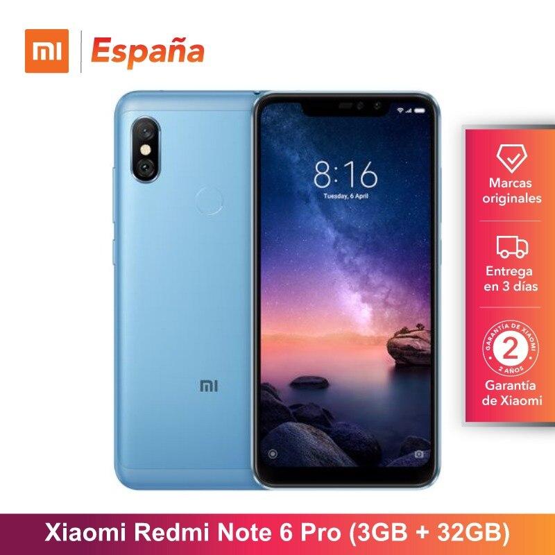 [Versão Global para a Espanha] Xiaomi Redmi Nota 6 Pro (Memoria interna de 32 GB, RAM de 3 GB, bateria 4000, camaras con Cuatro IA)