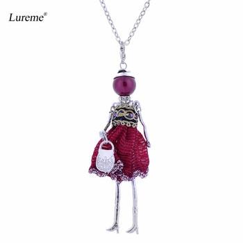 Larganl005748 Linda De Cadena Mano Mujer Muñeca Lureme Vestido Con Bolso Collar Para A Llavero Niña Hecho Y7gv6yfb