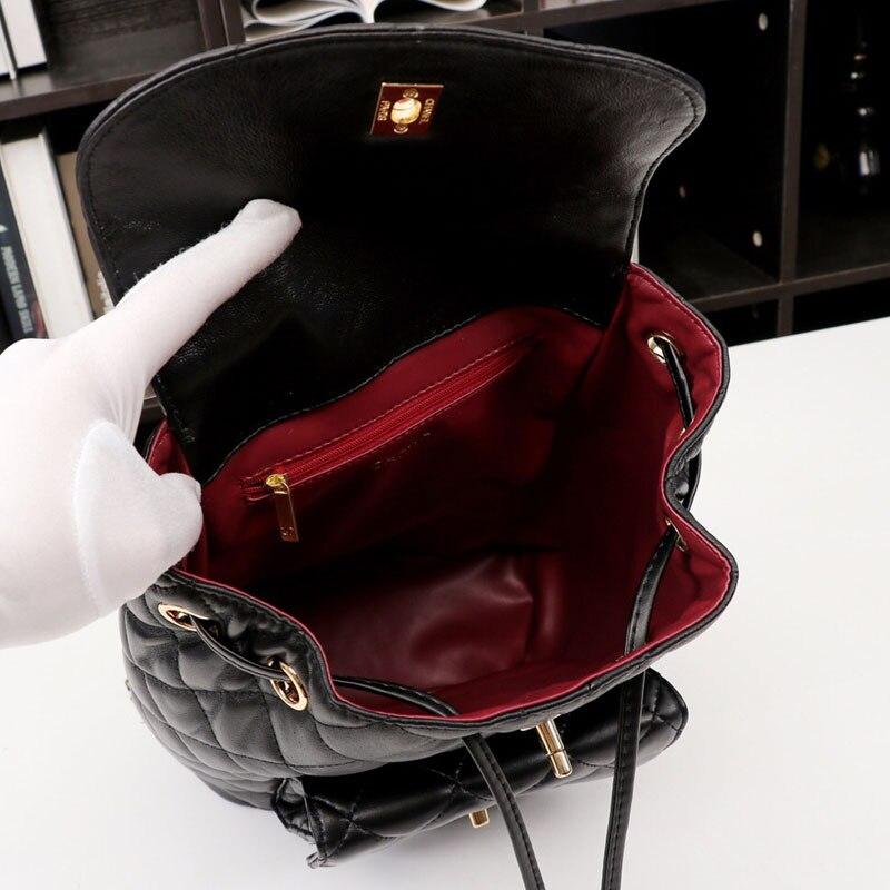 Peau En Sac Supérieure De Packback Mode Femmes Carreaux Luxe Mouton Black Wt Dos Guqi Qualité Nouveau Chaîne Style À 2019 qw0xT4Y