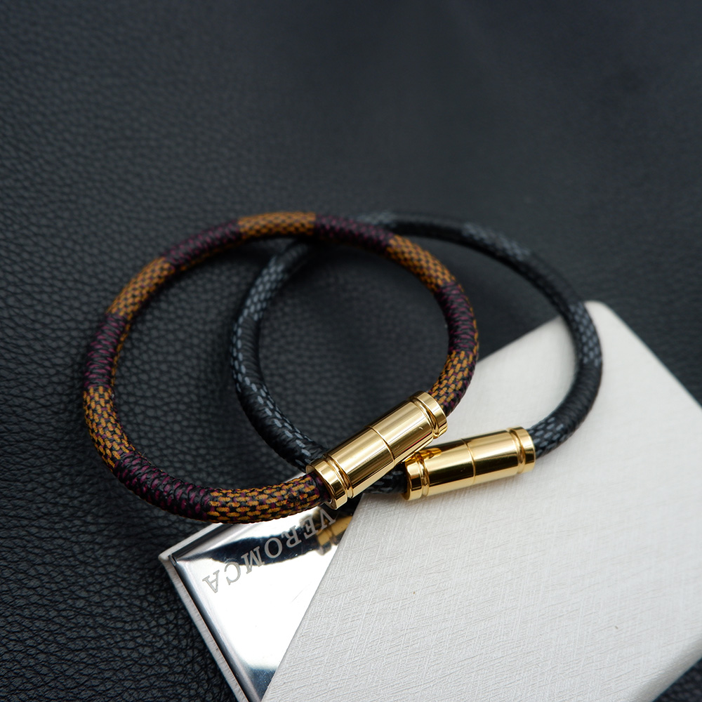Luxury Brand Leather Bracelet Men Bracels