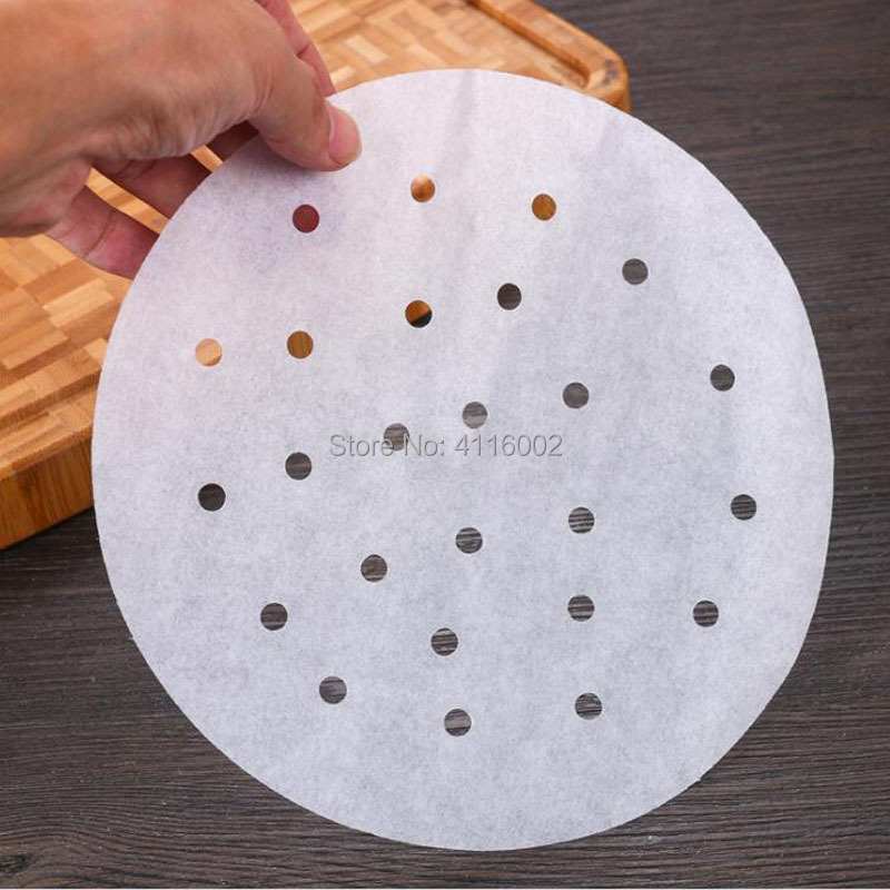 5inch Bamboo Basket Steamer Paper Kitchen Cooking Bamboo Steamer Dim Sum Paper Under Steam Mat Round Non Stick Steamer Paper