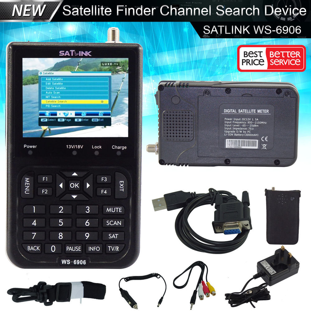Signal Finder SatlinkWS 6906 Satellite receive Signal Meter for Sat Dish WS 6906 3 5 DVB