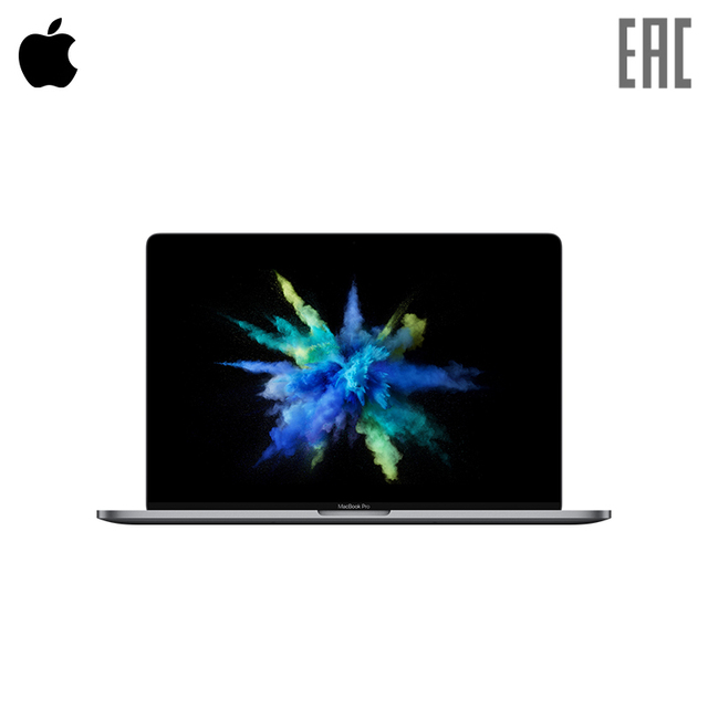 "Ноутбук Apple MacBook Pro 15.4"" Retina/i7 2.8 ГГц/16 ГБ/256 ГБ flash/Radeon Pro 555 2 ГБ + Int HD Graphics 630/Touch Bar/Серый"