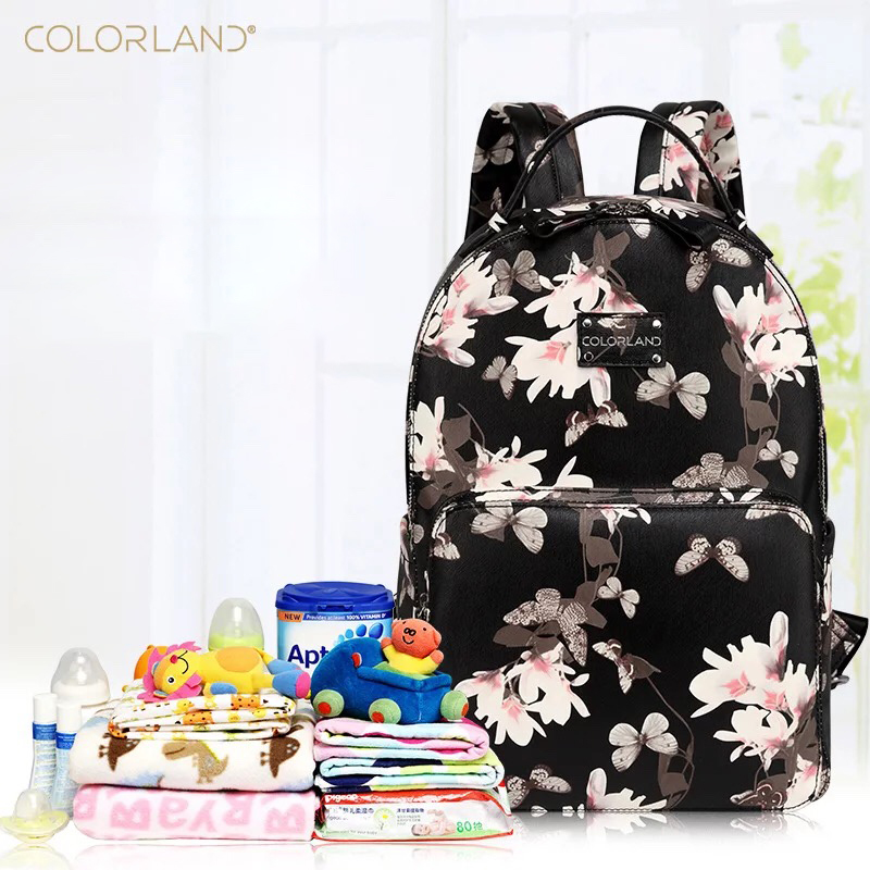 2019 Spring/Summer Series Multi-function Mommy Bags Baby Diaper Bags Backpacks PU Material Waterproof And Durable Commuter Bags