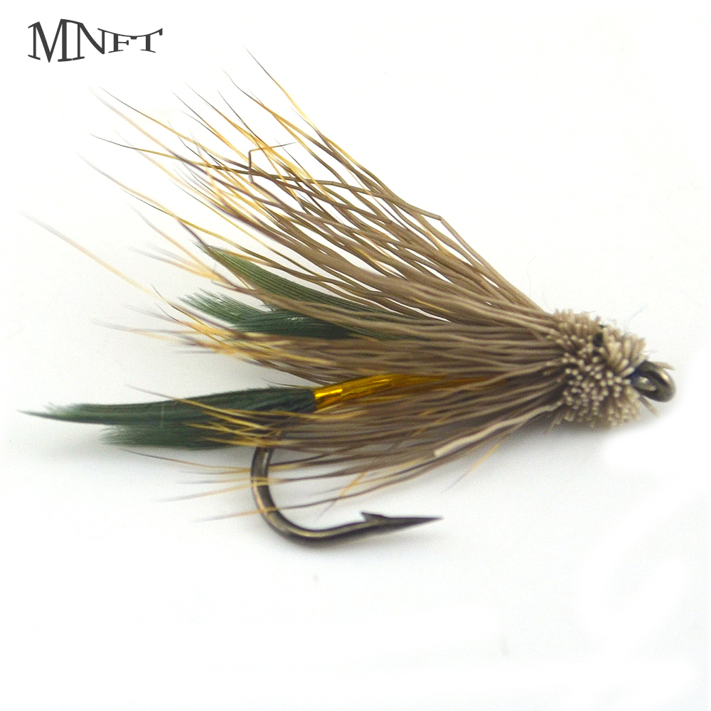 Fishing Lures Dependable Wifreo 10pcs #6 Black Body Woolly Worm Brown Caddis Nymph Fly Deer Hair Beetle Trout Fly Fishing Lure Bait Excellent Quality