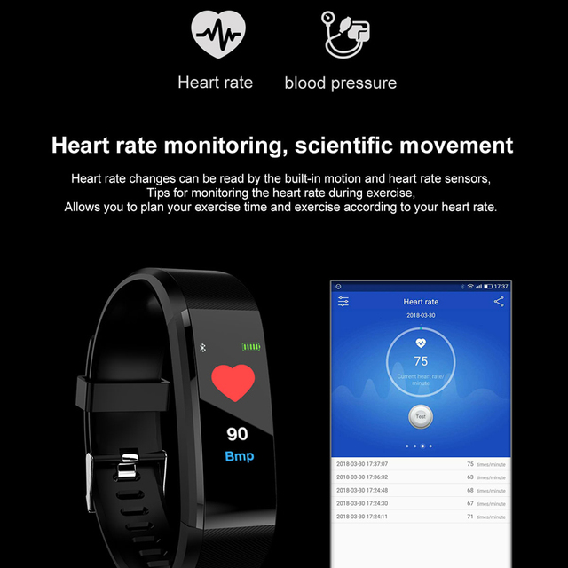 MAFAM New Smart Watch Men Women Heart Rate Monitor Blood Pressure Fitness Tracker Smartwatch Sport Watch for ios android +BOX 3