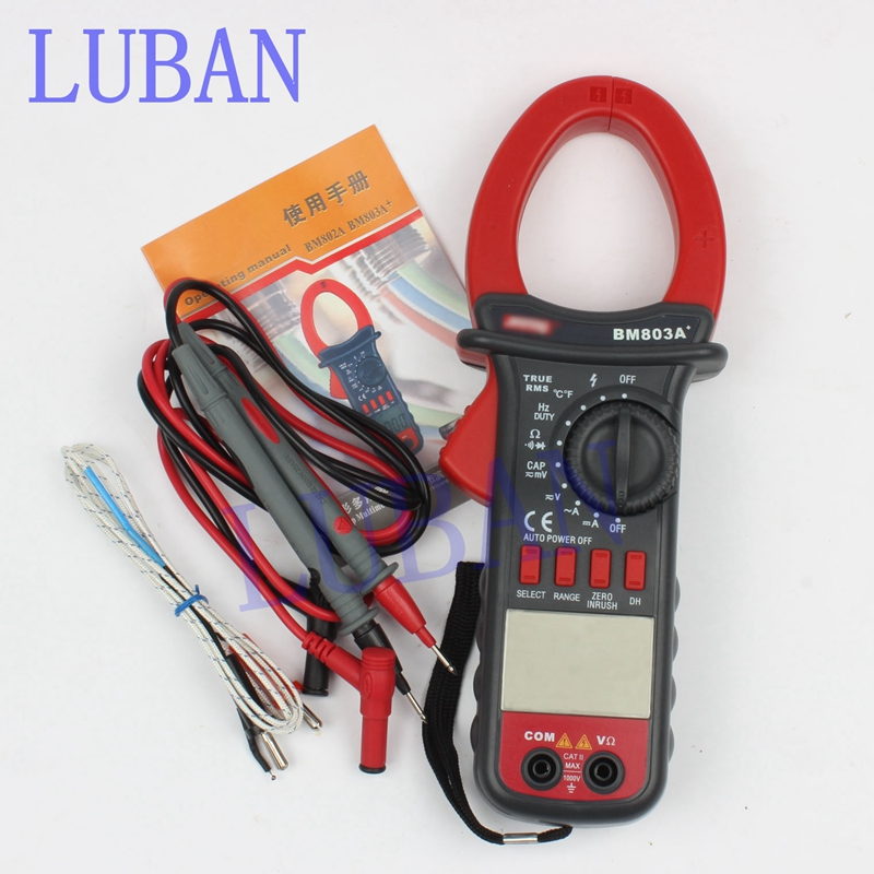 BM803A BM803 Digital AC-DC 1000A Clamp Meter digital multimeter  1000V  Temperature 1000 мультиметр uyigao ac dc ua18