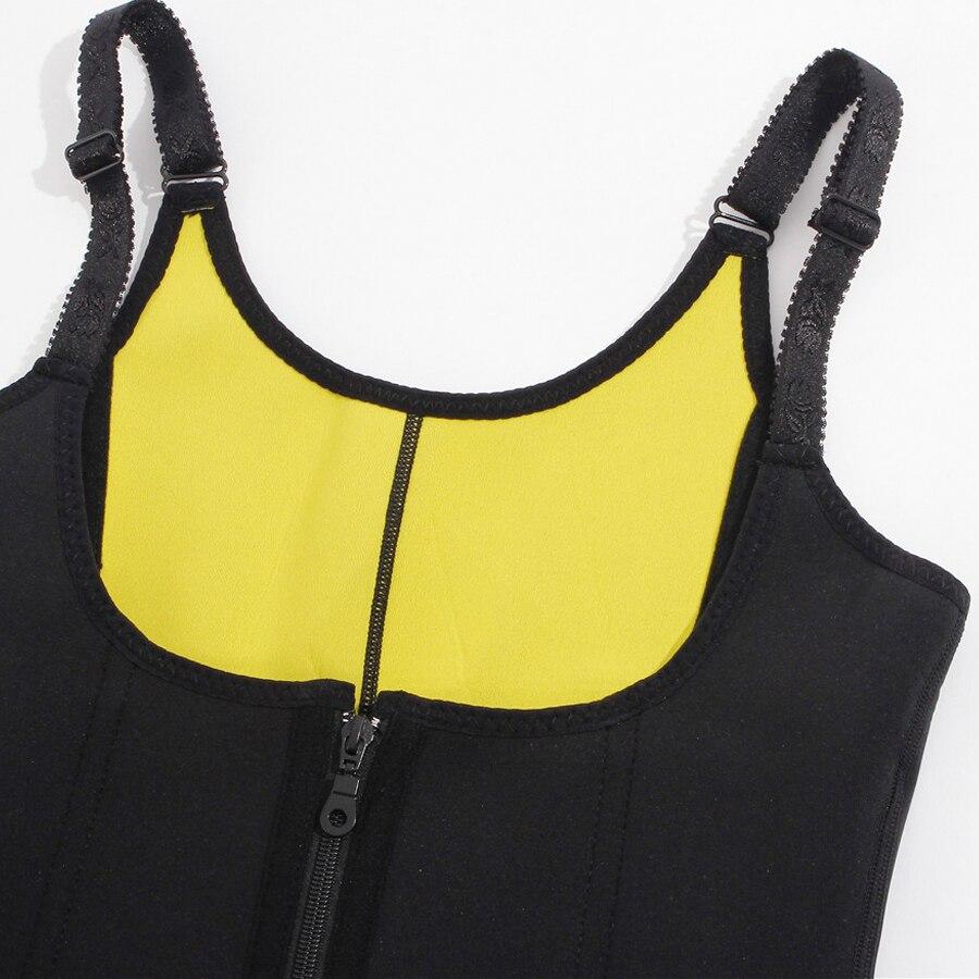 2ce4e5d507e Bafully Slim Waist Trainer Neoprene Sauna Sweat Vest Body Shaper Underwear  Modeling Belt Zipper Hooks Corset Suits for Women -in Waist Cinchers from  ...