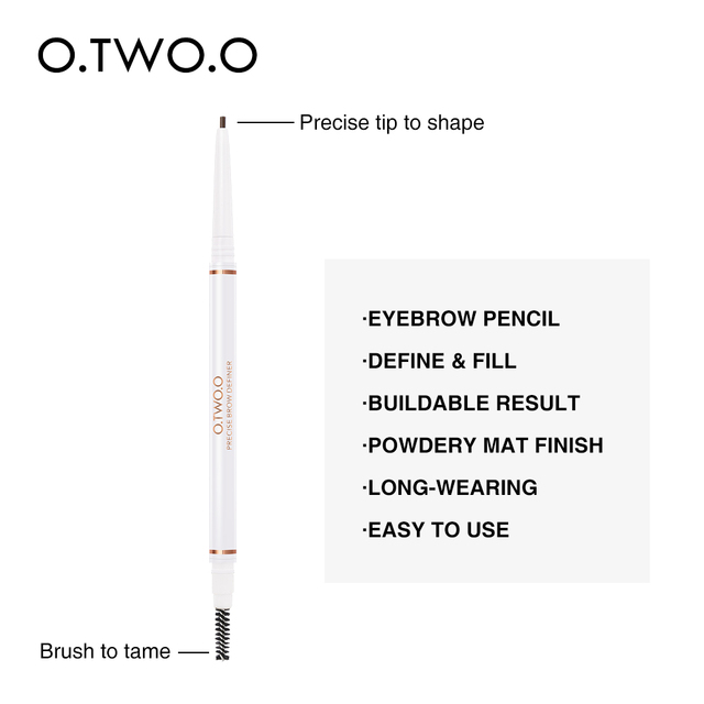 O.TWO.O Eye Brow Pencil Microblading Make Up Ultra Fine 1.5mm Beauty Cosmetic Long-lasting Waterproof Eyebrow Enhancers 4 Color 3