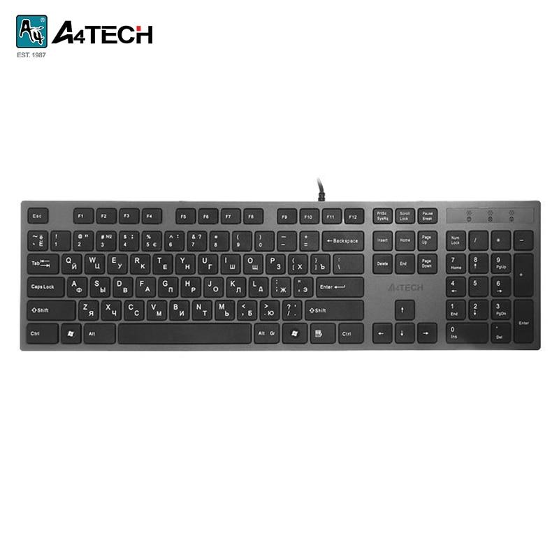Keyboard A4Tech KV-300H Officeacc клавиатура a4 kv 300h серый черный