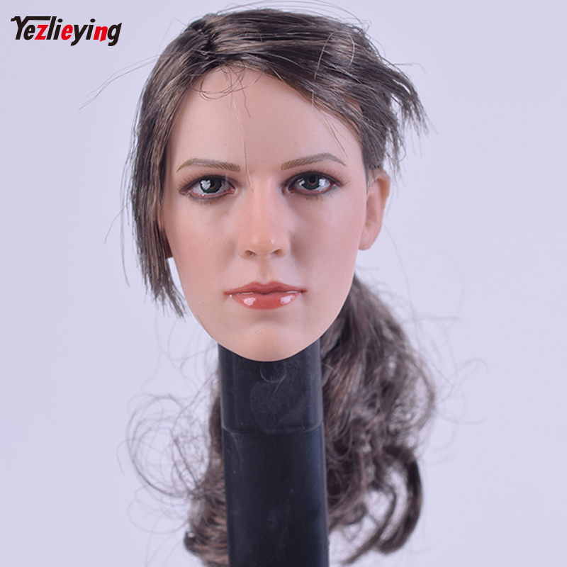 ZCtoys 1/6 Scale Accessoires Sniper JingJing Quiet Long Hair Version Head Sculpt Carving f 12 Inch PH HT toys Female Bodies Doll 1 6 scale female head carving nier head automata 2b girl long white hair head sculpt for 12 inches bodies