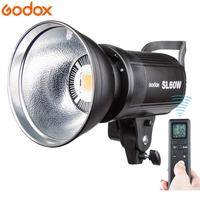 Godox LED Video Light SL 60W SL60W 5600K White Version Video Light Continuous Light Bowens Mount for Studio Video Recording
