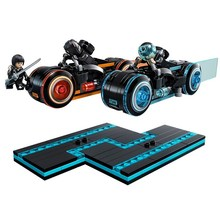 BELA 10881 Ideas TRON Legacy Light Cycles Model Building Blocks Enlighten Action Figure Toys For Children Compatible Legoe