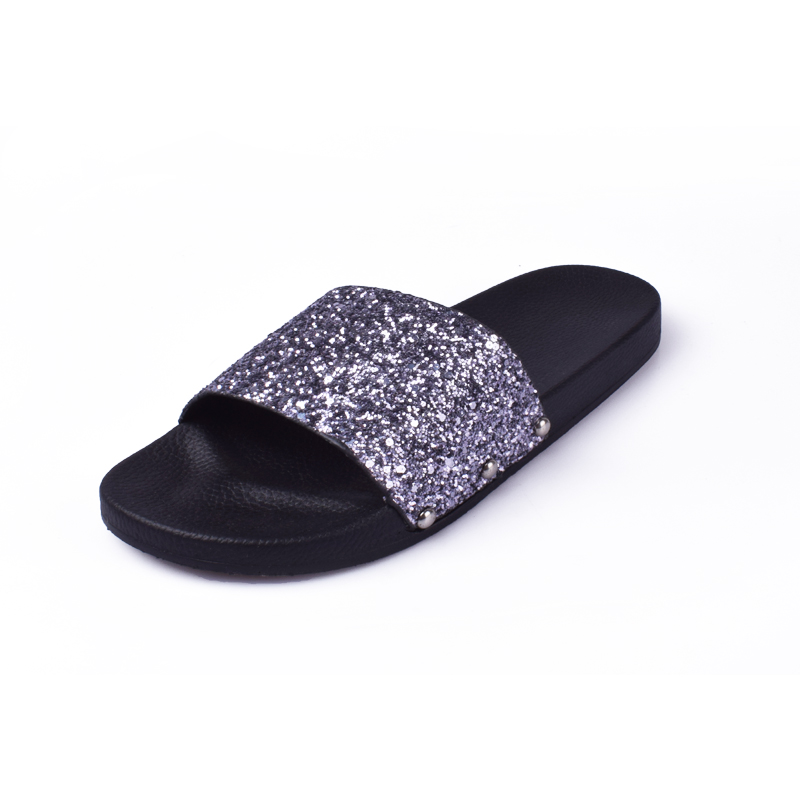 the latest 97a5c 5cb10 US $7.86 34% OFF|Summer Style Shoes Women Sandals Flip Flops 2018 Sexy  Bling Open Toe Slides Female Fashion Glitter Platform Solid Comfortable-in  Low ...