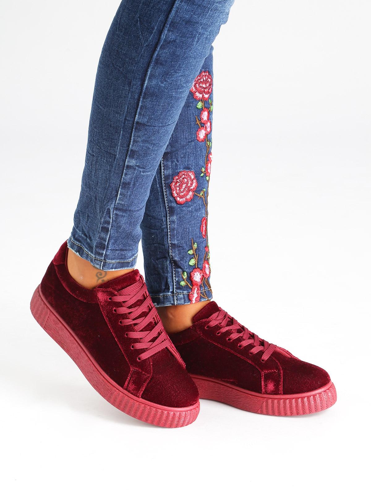 OMS Low Sneakers Velvet Effect