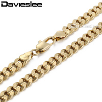 CUSOMIZE SIZE 6MM Curb Chain 18K Gold Filled Necklace Gift Fashion MENS Boys Jewelry CUSTOMIZE SIZE