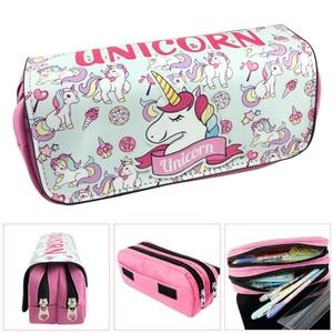 Cute unicorn pencil case 3D PU