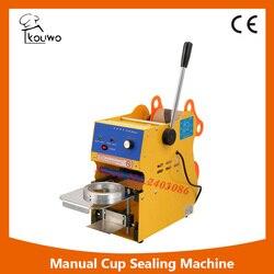 KW-F01 350 와트 수동 차 컵 씰링 기계 300-500 컵/시간 거품 보바 우유 차 커피 스무디 실러