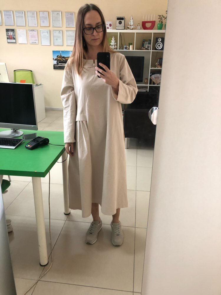 Women'S Fashion Vintage Loose Big Yards National Wind Linen Cotton Dress High Quality Casual Dress Female photo review