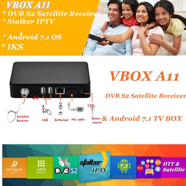 2018 Best Satellite Receiver & Android TV BOX support DVB S2 Stalker IPTV OTT+DVB-S2