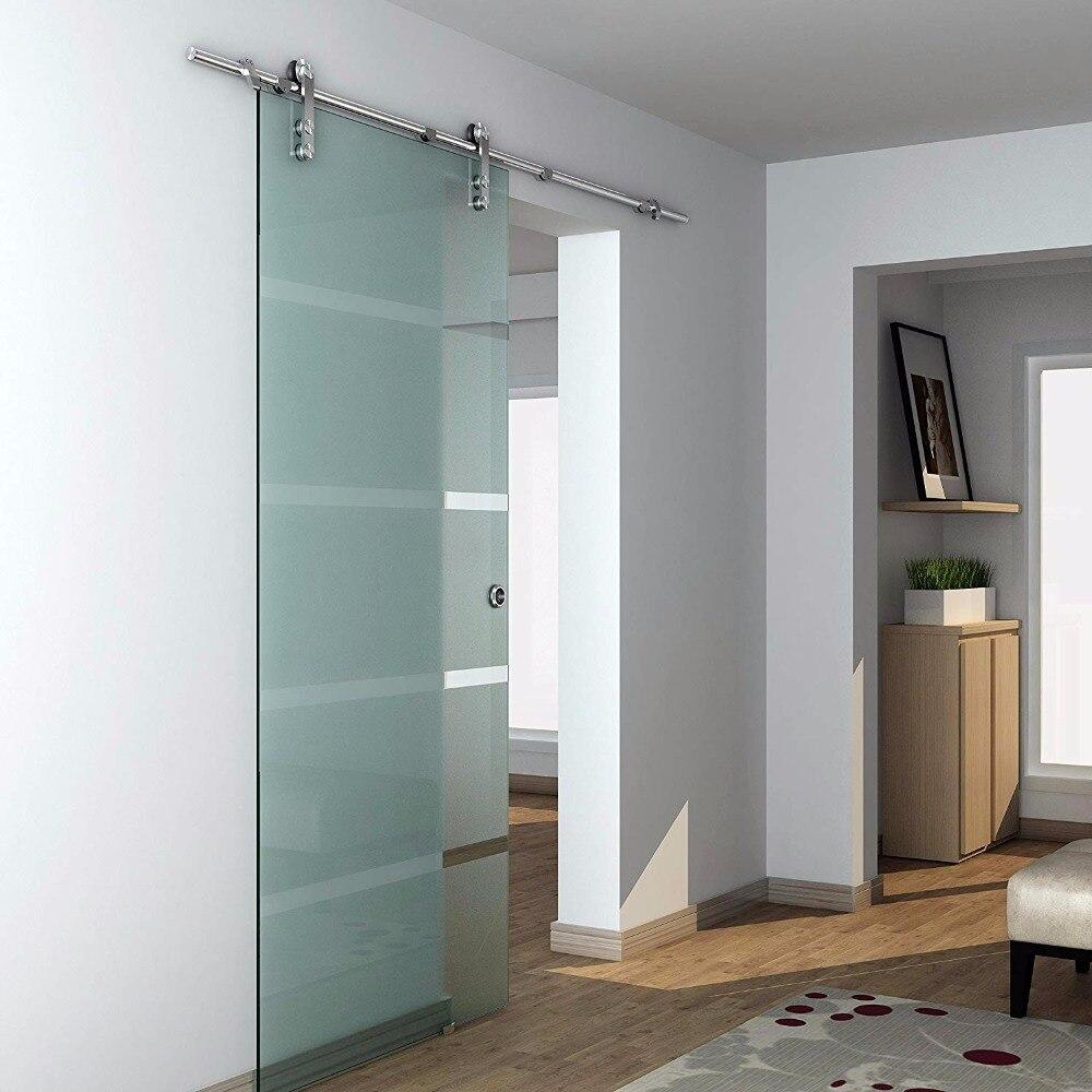 6ft Stainless Steel Glass Sliding Door Hardware Kits Track and Hardware6ft Stainless Steel Glass Sliding Door Hardware Kits Track and Hardware