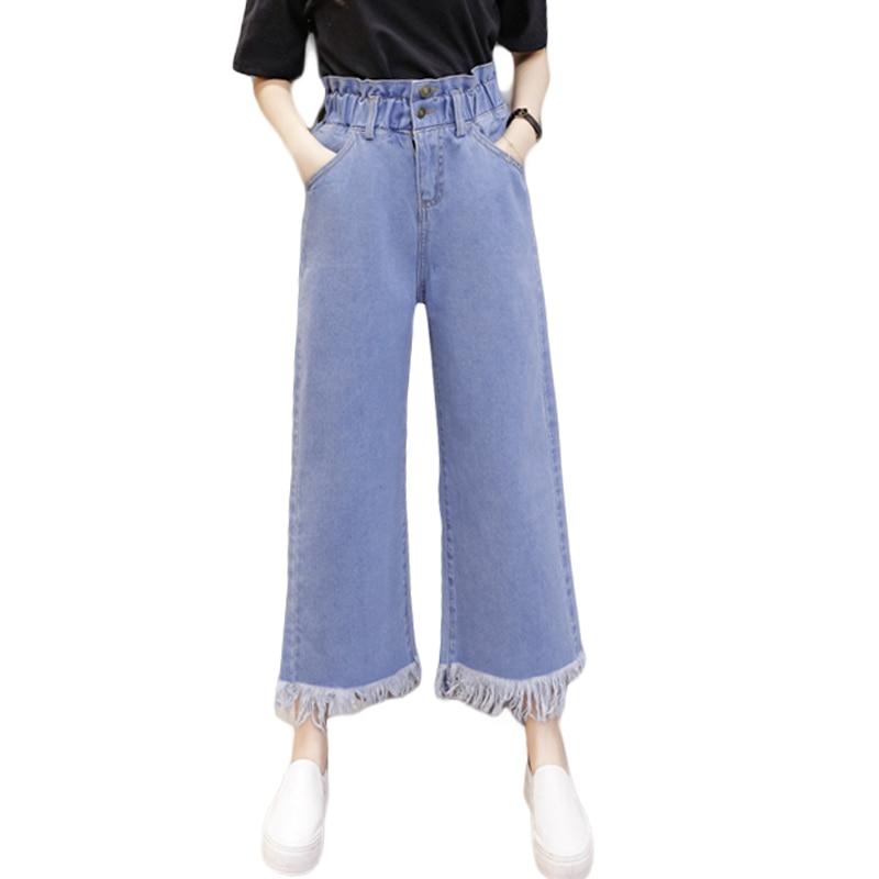 Plus Size 5XL Autumn High Waist Flare Jeans Pants Stretch Loose Jeans Women Wide Leg Slim Hip Denim Boot Cuts Large Size CM2850