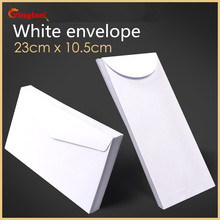 Free shipping 20pcs / lot white envelope simple clean blank decorative wedding invitation