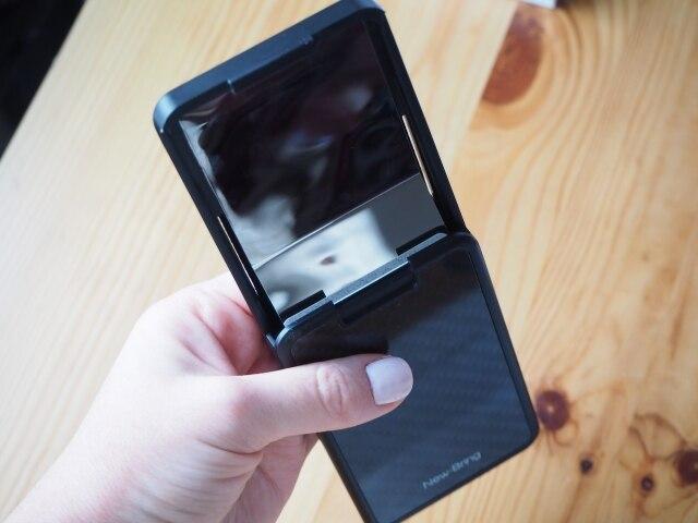NewBring Card Holder Slide Wallet RFID Blocking Carbon Fiber For Men Women Male Female Card Money Case Purse photo review