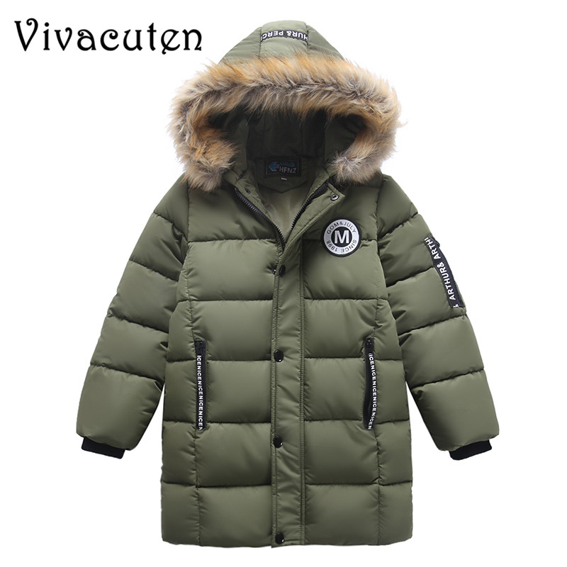 Boys Winter Parka Jacket Kids Fur Collar Coats for Teenager Boys Cotton Outwear School Children Kids Down Jacket Hooded Clothes boys winter parka jacket kids fur collar coats for teenager boys cotton outwear school children kids down jacket hooded clothes