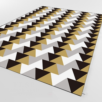 Else Black Gray White Ethnic Triangle Geometric 3d Print Non Slip Microfiber Living Room Decorative Modern Washable Area Rug Mat