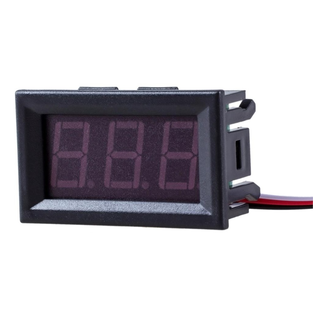 1pc DIY Mini Voltmeter Tester Digital Voltage Test Battery DC 0-30V 0-100V 3 Wires Red Green Blue for Auto Car LED Display Gauge dc 2 4v 30v 2wires voltmeter mini 0 36 digital voltage gauge meter for auto car
