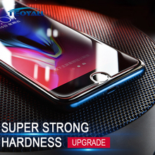 ФОТО teoyall 9h hardness tempered glass for iphone 7 8 6 6s x 5 4 se screen protector for iphone 6s 7 8 plus glass protective film 5s