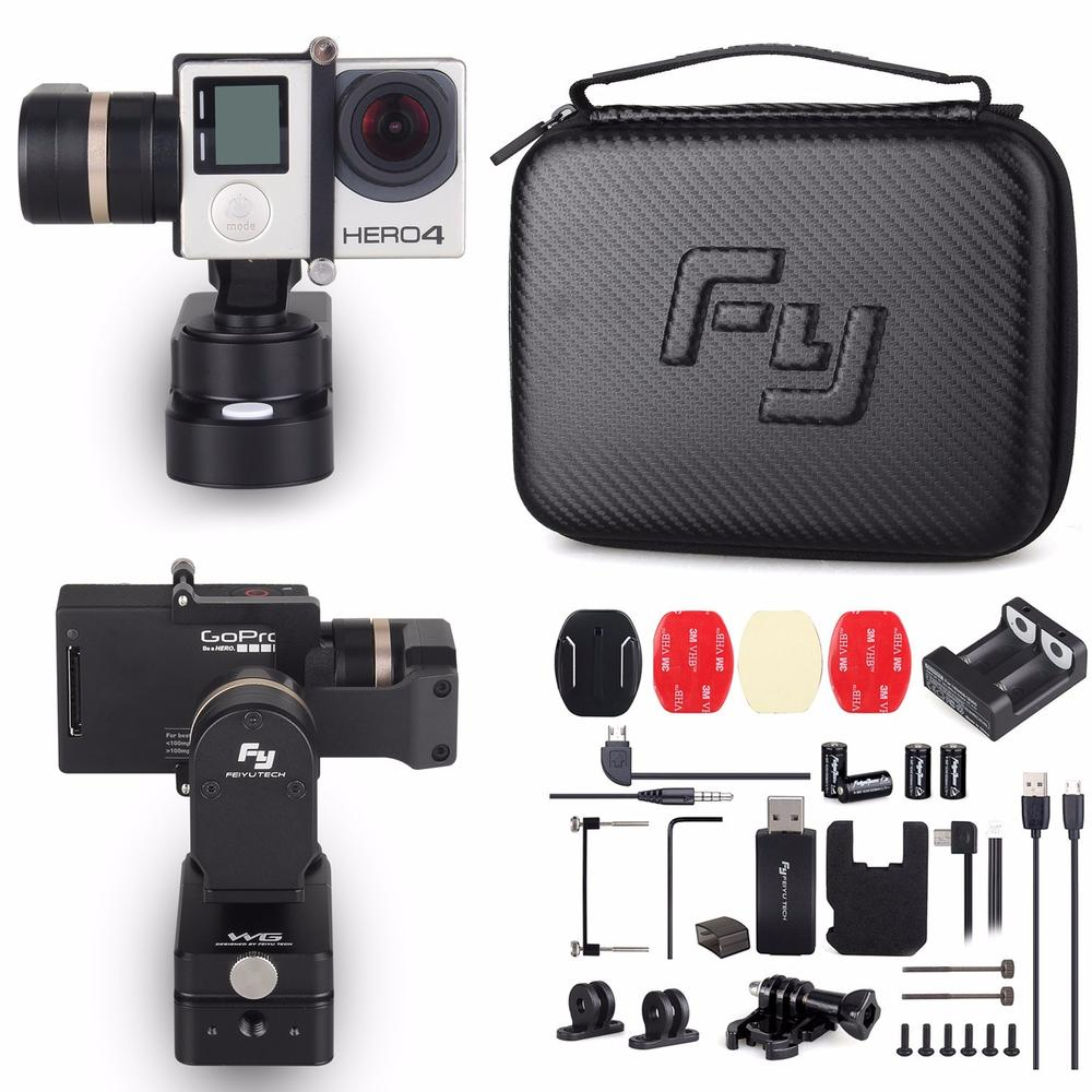 Feiyu FY-WG 3-axis Wearable Handled Gimbal Stabilizer for Gopro Hero 3 3+ 4 Mini Camera LCD Touch BacPac dji phantom 2 build in naza gps with zenmuse h3 3d 3 axis gimbal for gopro hero 3 camera
