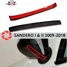 Зеркальный спойлер для Renault Sandero 2009-2018 аэродинамическая резиновая отделка анти-всплеск охранные предметы брызговик автомобиля Стайлинг
