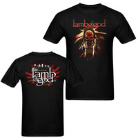 Laukexin Men Women T Shirt American Rock Band Lamb Of God Casuals Cotton T Shirts Custom