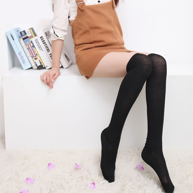Women Socks Warm Thigh High Over the Knee Socks cute beautiful thigh highs kousen black sock ladies knee high socks in Socks from Underwear Sleepwears