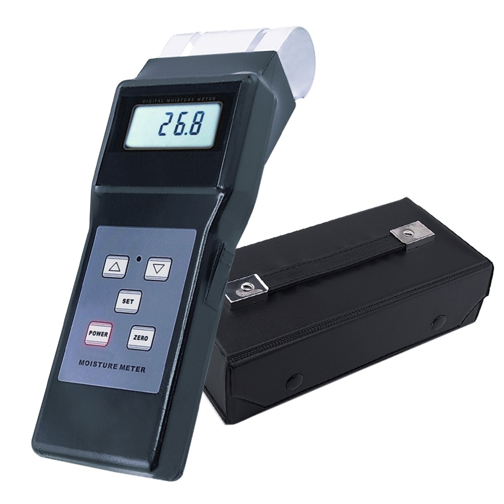 Digital Electromagnetic Search Type Inductive Wood Moisture Meter Equipment No destruction 0-80% Range Tester Tobacco Cotton