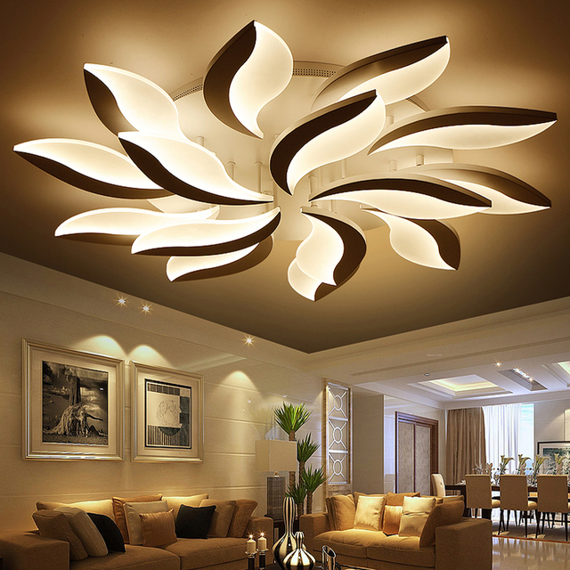 Remote Control Chandelier Fashion Windmill Modern Led Indoor Home Decoration Acrylic Lighting