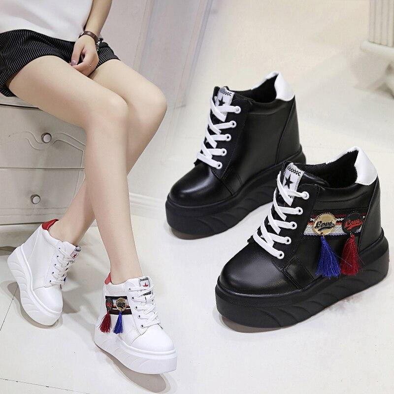 Décontractées Mode De 2018 Simples Femmes Chaussures Épais blanc Plates Nouveau Confortables Noir Coréenne Sauvage Respirant Super vCxwqC57