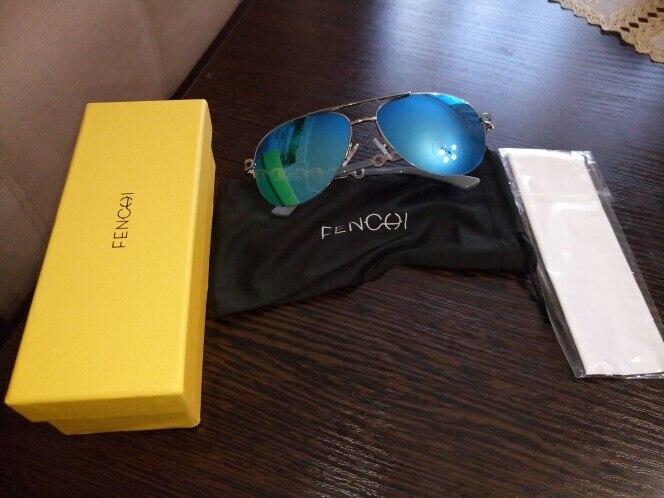 FENCHI Sunglasses Women Driving Pilot Classic Vintage Sunglasses High Quality Metal Brand Designer Glasses UV400 Fashion Pink