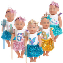 Doll Clothes Born New Baby Fit 18 inch 40-43cm Lantern skirt trousers accessories For Birthday Gift