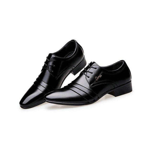 Fashion Mens leather shoes wedding Business dress Nightclubs oxfords Breathable Working lace up shoes RA-61