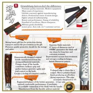 Image 3 - Кухонный нож GRANDSHARP из дамасской стали, 3,5 дюйма, нож для чистки овощей и фруктов vg10, японский шеф повар из дамасской нержавеющей стали, приспособление