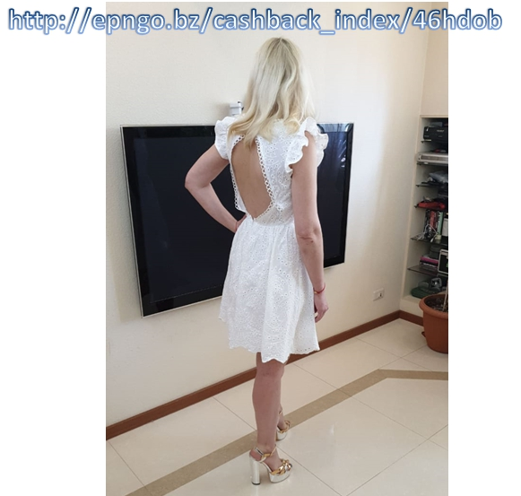 Sexy white women summer dress Backless v neck ruffle cotton lace dress Vintage holiday beach short female vestidos photo review