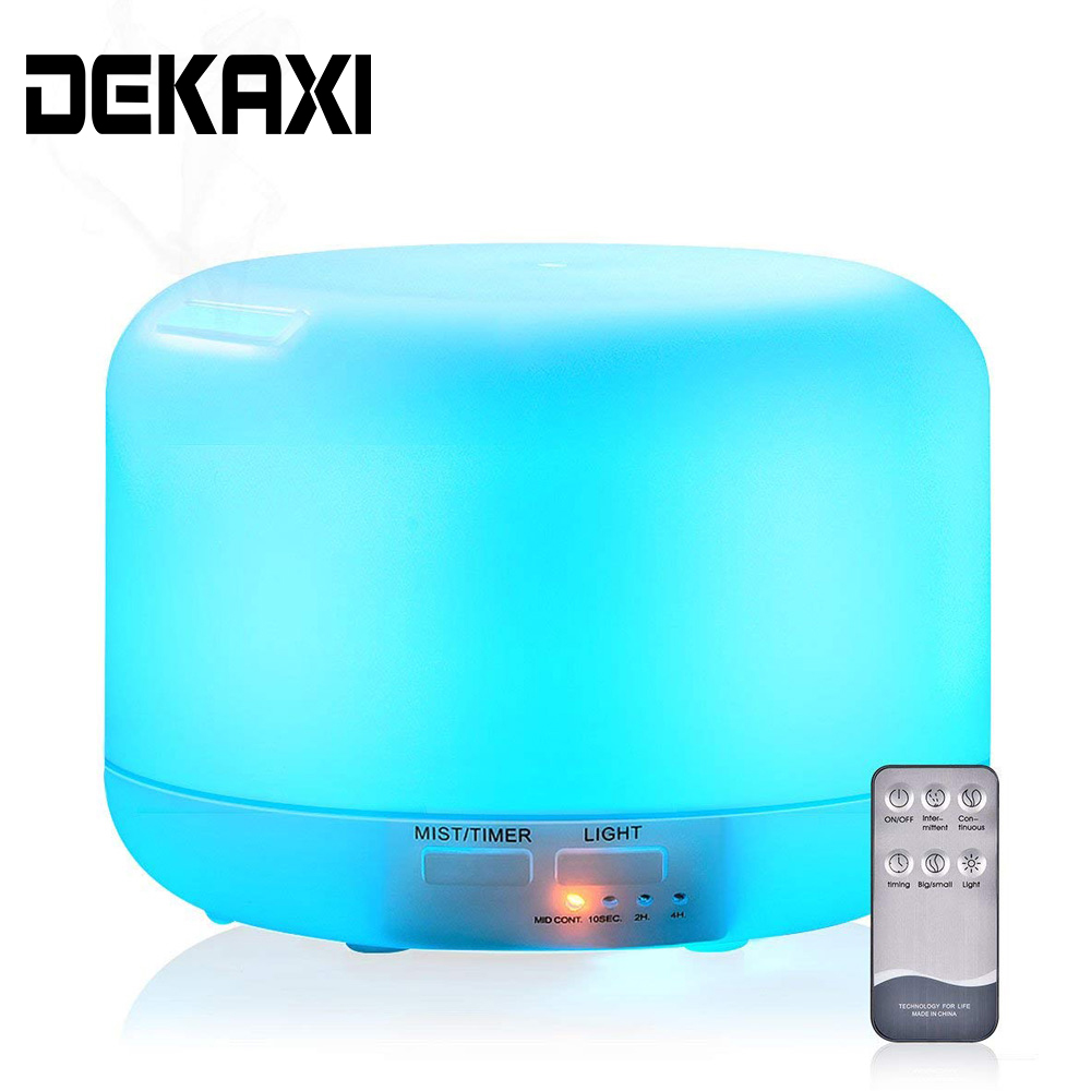 300ML Electric Aromatherapy Essential Oil Aroma Diffuser Remote Control Ultrasonic Aroma Air Humidifier With 7 Colors Lamp