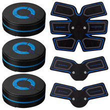 Smart Vibration Abdominal Muscle Trainer Building Fitness Massager 2 AAA Battery Stimulator  Stress Relaxation