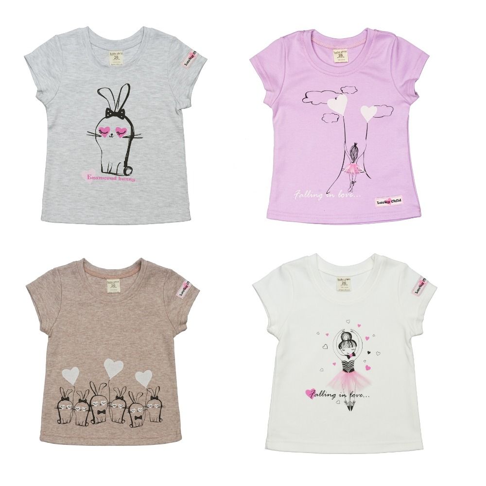 T-Shirts Lucky Child for girls 54-12 56-26 Shirt Children clothes t shirts lucky child for girls 54 12 56 26 shirt children clothes
