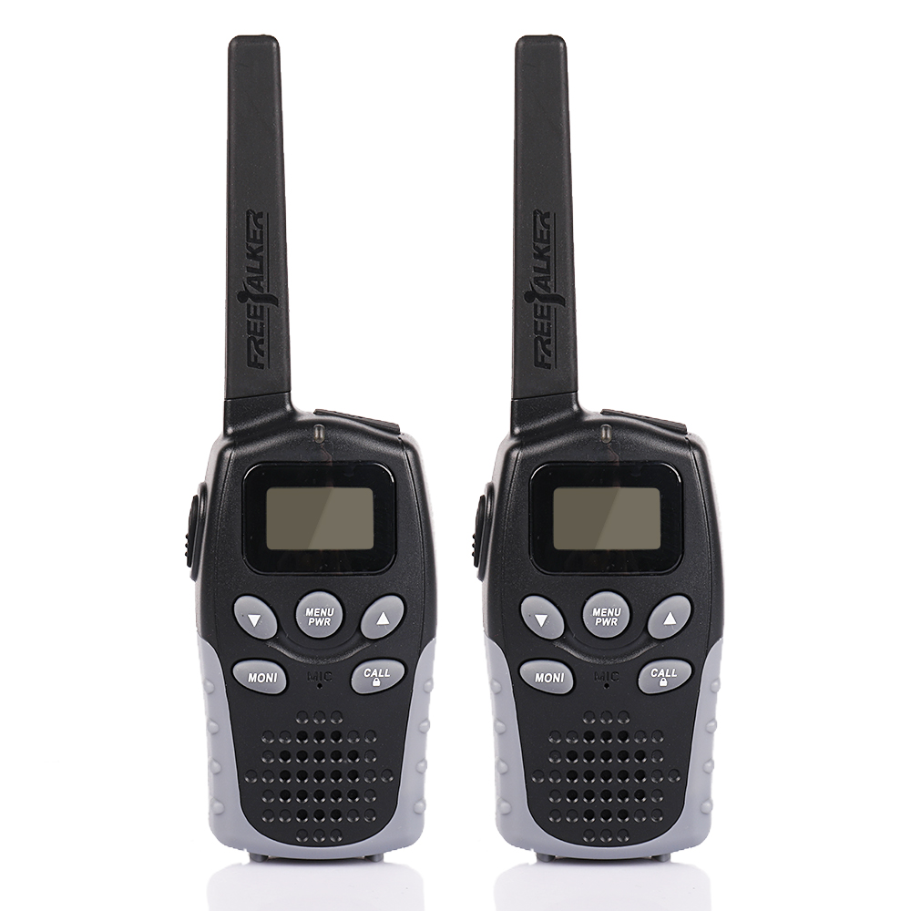 2 Pack JJ-310 FRS Scanner Mini Two Way Radio Mini Kids Walkie Talkie 22CH 0.5W LCD Screen VOX TOT Low Battery Indication Black