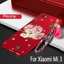 For Xiaomi Mi 3 Case silicon luxury funda protection mobile phone bag For